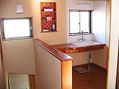 二階にも木製ミニキッチン